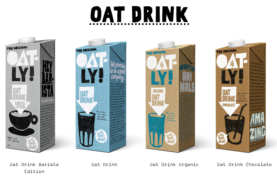 Oatly Oat Drink barista organic chocolate